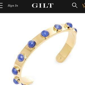 kate spade ™ BLUE tag along cuff bangle bracelet